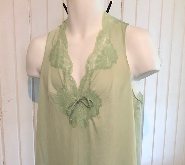 Vintage Mint Green Vanity Fair 36 Night Gown