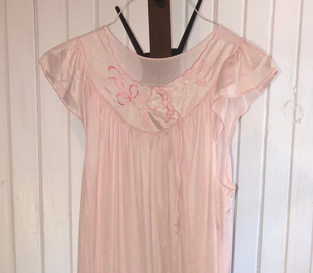 "Vintage Long Pink 80""s Gown by Sears"