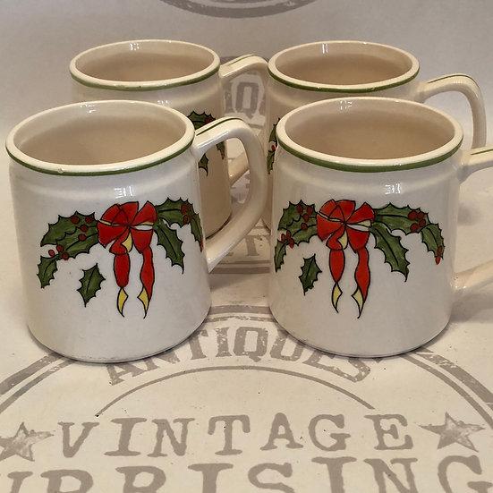 Christmas Holly Mugs - Coffee Cups