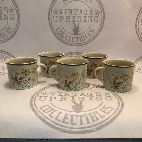 Royal Doulton Sandsprite Coffee Mugs Set of 5 Mugs only