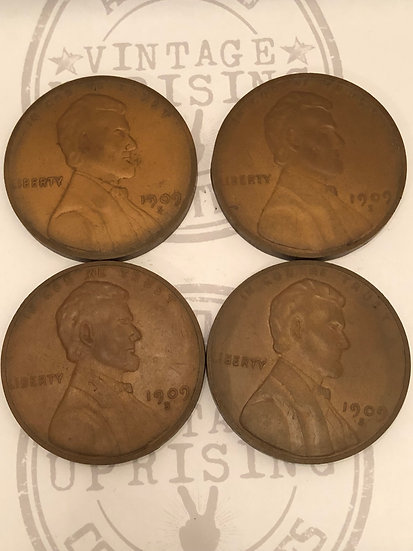 Cool Copper Penny Drink Coasters