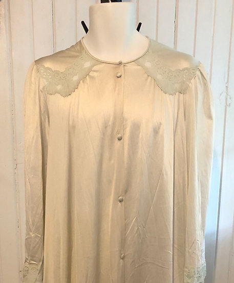 Vintage cream house coat  Vanity Fair Lg