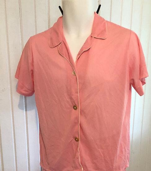 Vintage Pink Silk Pant PJ set  sz 36
