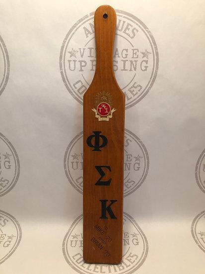 Vintage 1970s Phi Sigma Kappa Fraternity Pledge Pl PADDLE