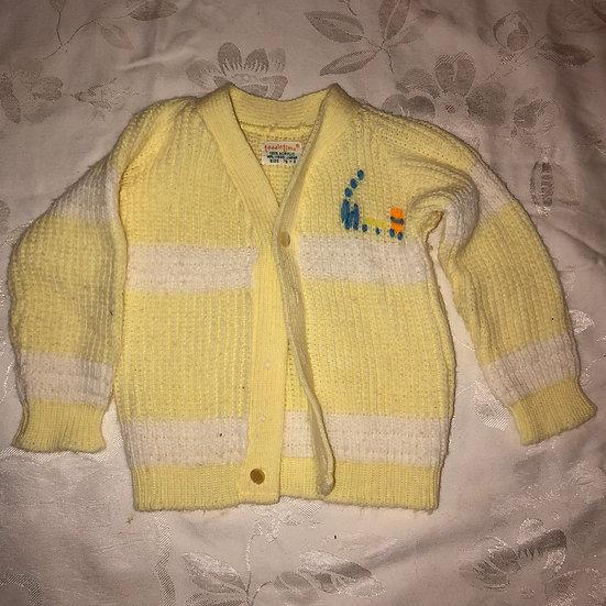 Yellow and White Sweater