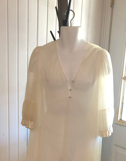 Vintage Sheer White Robe