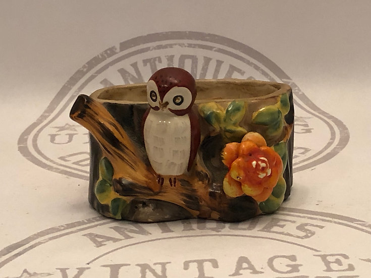 Vintage Owl Planter - Occupied Japan - Qwl