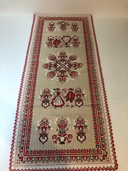 Haller Textilwerke Tiroler Webkunst Woven Austria Folklore Table Runner