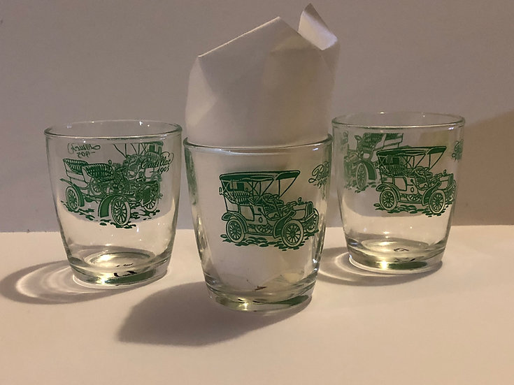 Vintage Classic Car Double Old Fashion Whiskey Bar ware