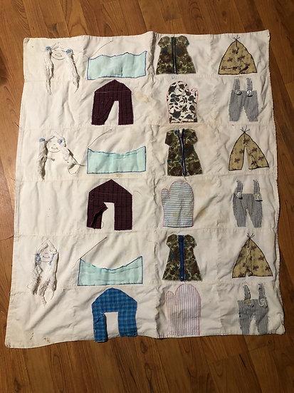Vintage Handmade Baby blanket - Patch work