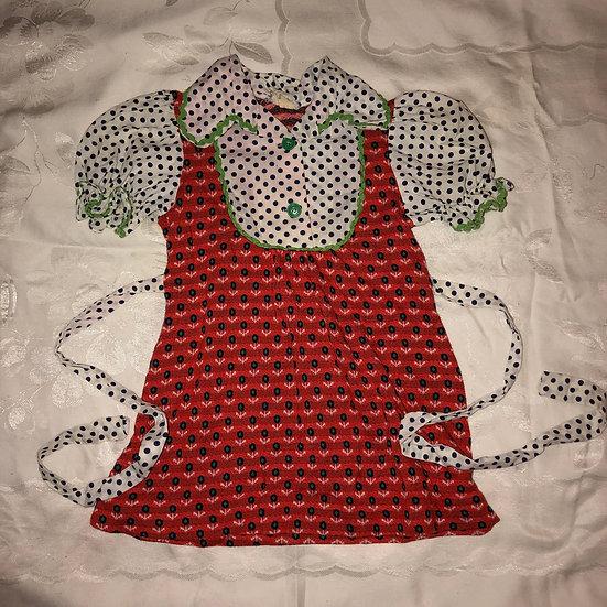 Red, White & Green trim Dress