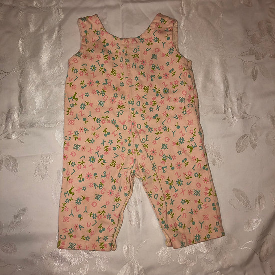 pink corduroy overalls with ABCs