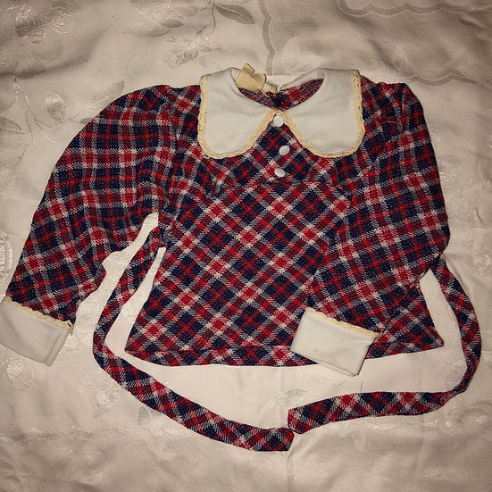 Red & Blue Plaid Top