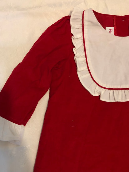 Red Corduroy Dress 4T