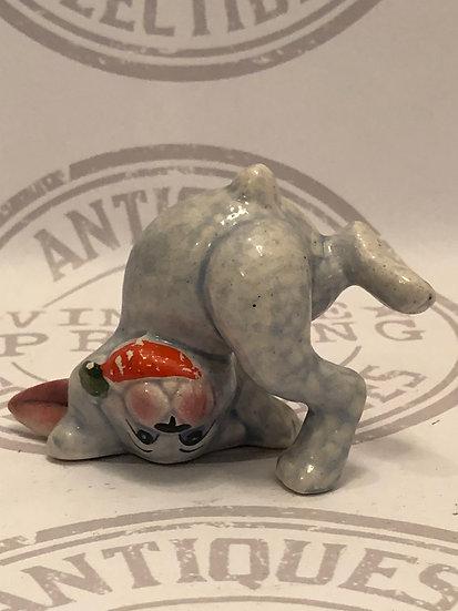 Cute Bunny Rabbit Ceramic Figurine