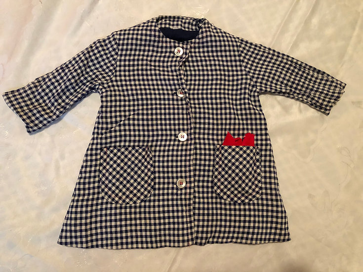 Blue and white Checker Jacket