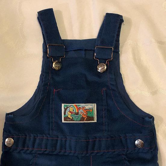 Blue Winnie the Pooh Corduroy Overalls