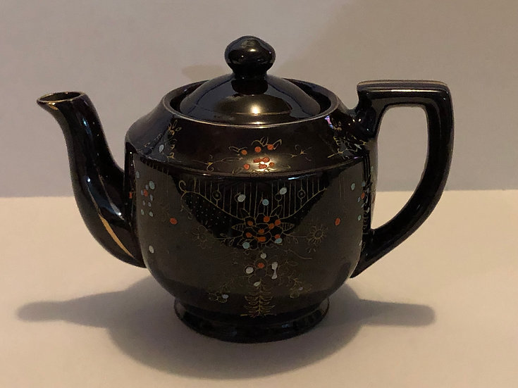 50's Hand painted Brown TeaPot made in Japan