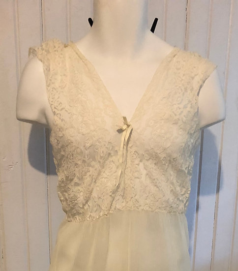Vintage Sheer Lacy Night Gown Small