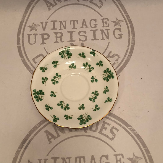 Shamrock Early Aynsley Hand Painted Clover Design Saucer