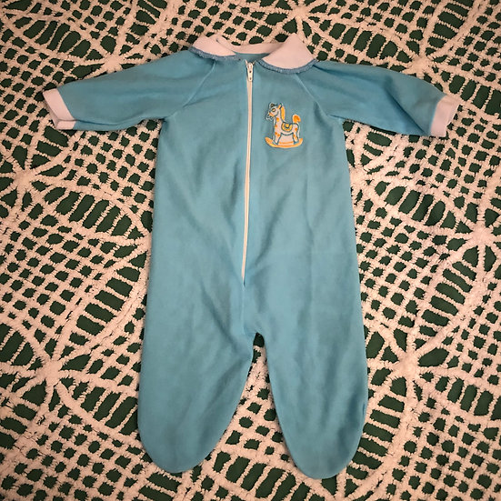 Blue Baby Sleeper Onesie