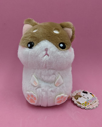 PLUSH PET BROWN & WHITE CAT