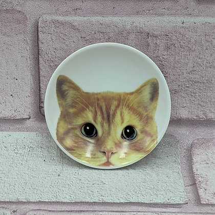 SMALL CERAMIC CAT TRINKET PLATE