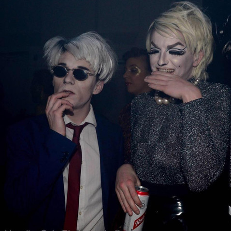 Alfie Ordinary & Lydia L'Scabies as Andy Warhol & Edie Sedgwick