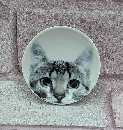 SMALL CERAMIC CAT TRINKET PLATE