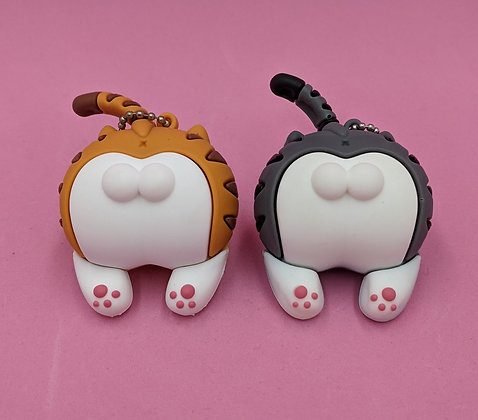 CAT BUTT KEY RING/BAG CHARM