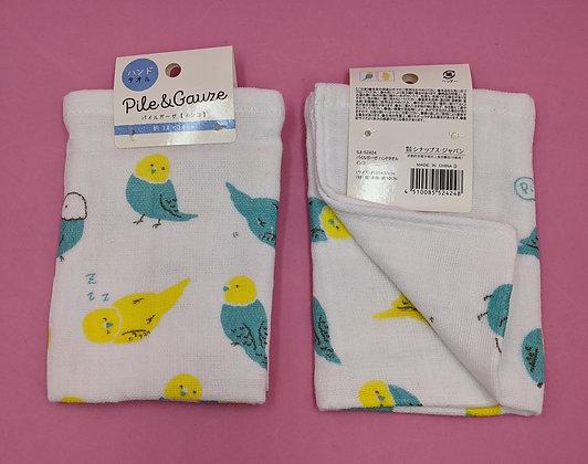 SLEEPY BIRD MUSLIN/TERRY TOWEL