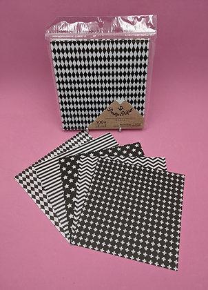 ORIGAMI PAPER - BLACK & WHITE