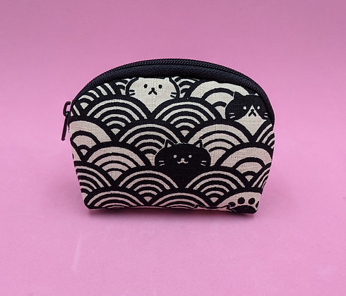 SEIGAIHA WAVE PURSE - BLACK