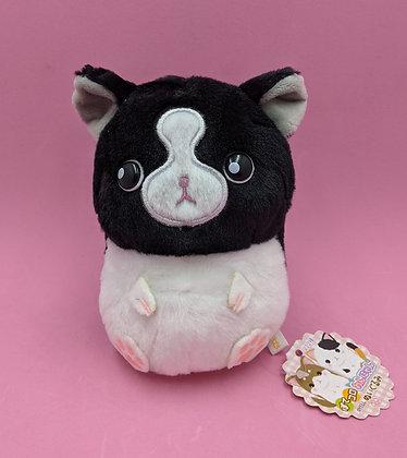 PLUSH PET BLACK & WHITE CAT