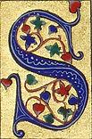 Lettrine médiévale S