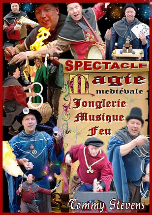 Show spectaculaire et médiéval de magie, jonglerie et cracheur de feu pour mariage médiéval