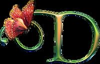 Lettrine papillon D