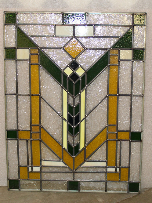 Frank Lloyd Wright inspired Stained Glass Sun Catcher