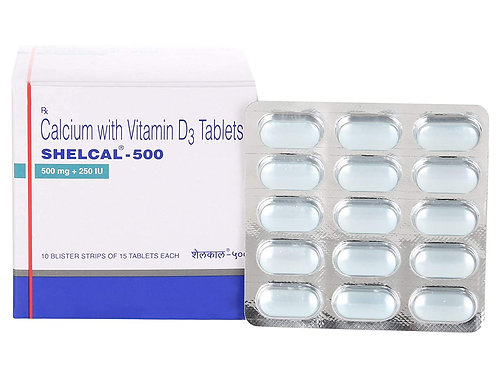 Shelcal 500mg Strip Of 15 Tablets
