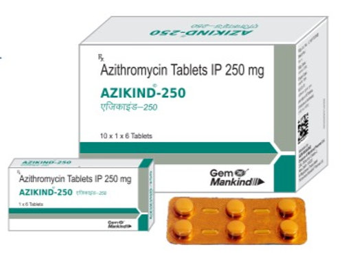 AZIKIND-250 / Azithromycin Tablets IP 250 mg