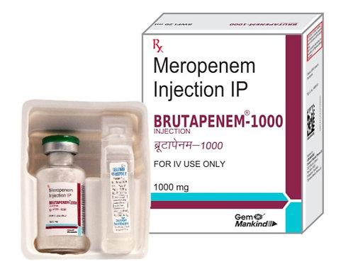 BRUTAPENEM 1000 / Meropenem Injection IP