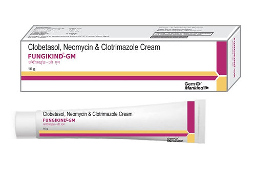 FUNGIKIND-GM / Clobetasol, Neomycin & Clotrimazole Cream