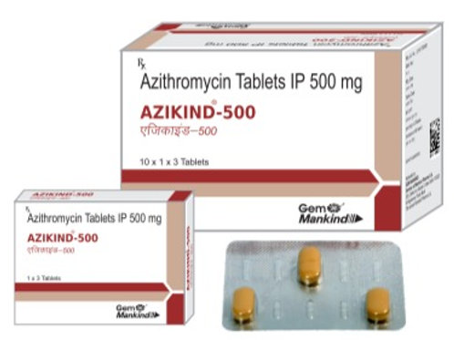 AZIKIND-500 / Azithromycin Tablets IP 500 mg