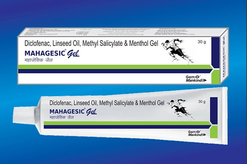 MAHAGESIC GEL / Diclofenac, Methyl Salicylate, Linseed Oil & Menthol Gel