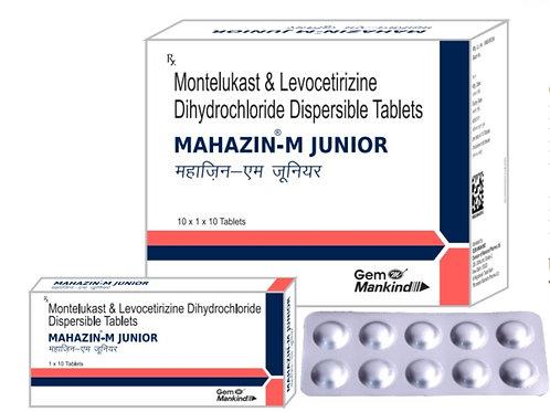 MAHAZIN-M JUNIOR / Montelukast & Levocetirizine Dihydrochloride Dispersible Tab.