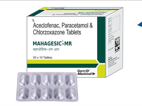 MAHAGESIC-MR / Aceclofenac, Paracetamol & Chlorzoxazone Tablets