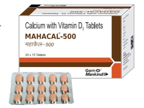 MAHACAL-500 / Calcium with Vitamin D3 Tablets