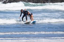 Surfing Piha