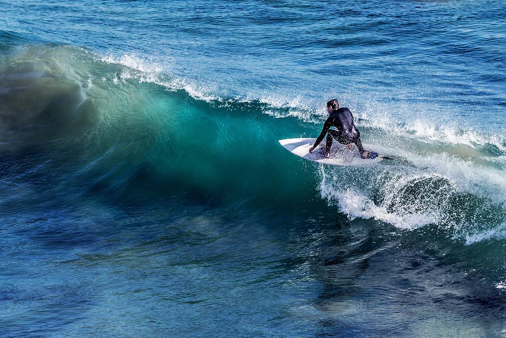 Surfing a Right Hander