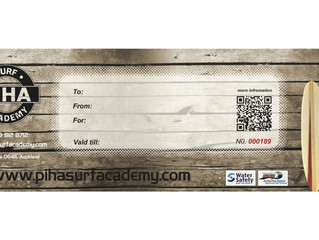 Piha Surf Academy Gift Vouchers